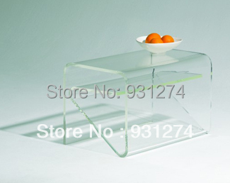 Modern Clear Acrylic Side Table With Magazine Rack Perspex Home Furniture Free Shipping Coffee Retail And Whole In Tables From On