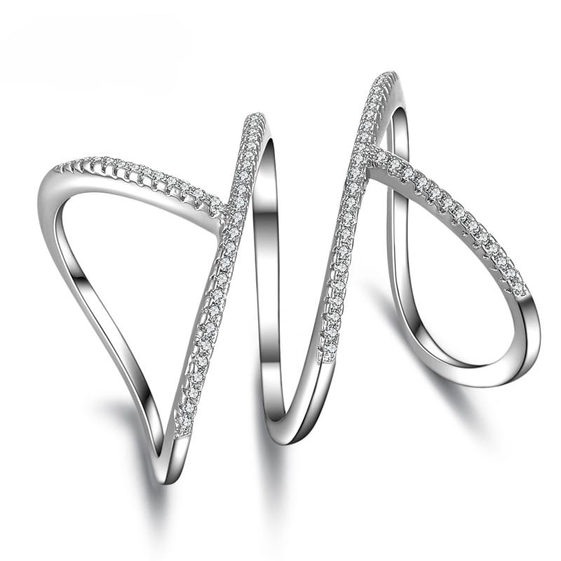 Кольца из стерлингового серебра 925 пробы, уникальный дизайн, очаровательные Модные кольца для женщин и девочек, полностью блестящий кристалл, ювелирные изделия из кубического циркония|fashion rings for women|rings for womenring for | АлиЭкспресс