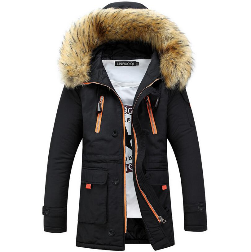 Parka Men Coats Winter Jacket Men's Slim Thicken Fur Hooded Outwear Warm Coat Top Casual Mens Coat Plus size 3XL w564 winter jacket men 2016 brand parka plus size men s hooded parka zipper quilted coat casual jackets