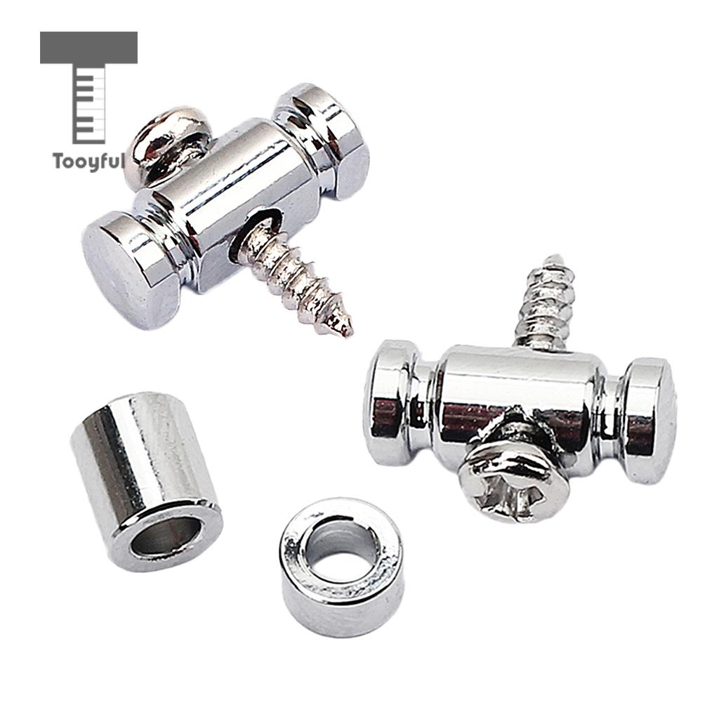 Tooyful Chrome GE19 Guitar Roller String Retainer Mounting Tree Guide For Electric Acoustic Guitar Parts Accessory