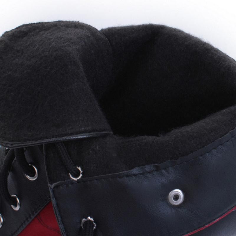 Taoffen De Ternero azul Tamaño Mujer Plataforma Botas Tacón Dentro 39 Zapatos Mediados Negro Moda Sexy Aguja Alto 34 rojo Mujeres OrqrnE