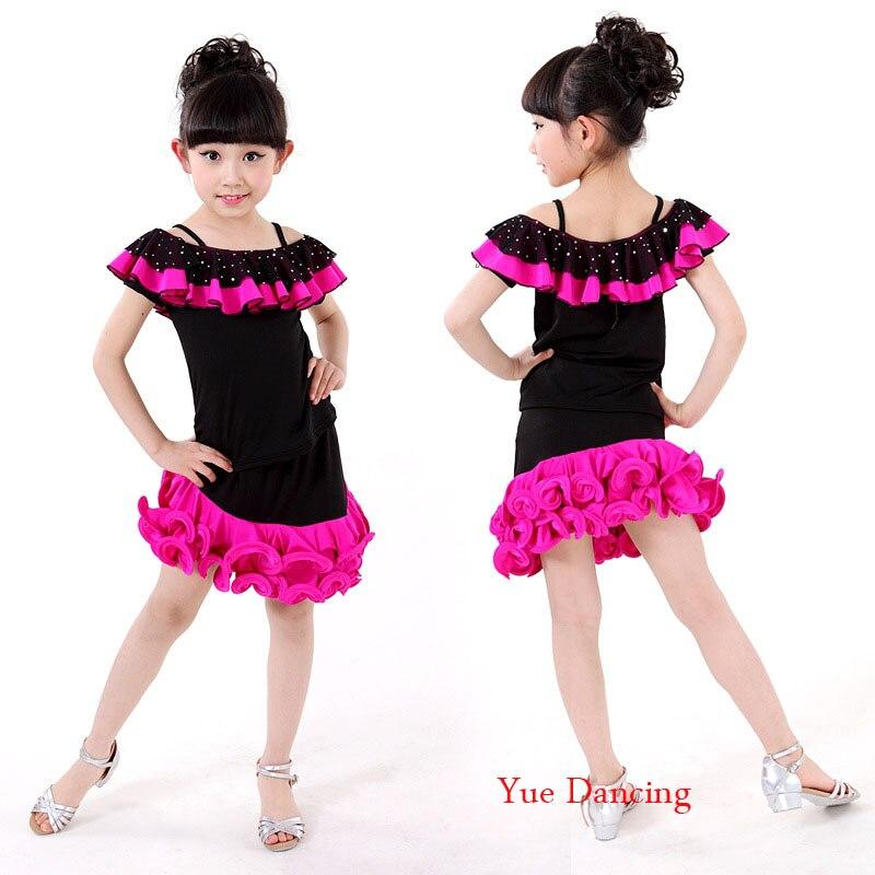 1201ac0faf59 Aliexpress.com   Buy Rose Green+Black Dance Dress Latina Sequins Samba  Carnival Costumes Standard Ballroom Skirts Cheap Junior Salsa Dresses For  Sale from ...