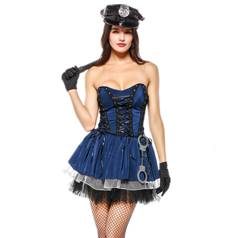 Sexy Police Costume Halloween Costume For Woman Cop Outfit Cosplay Fancy Dress Girls Nightclub Performance Uniforms