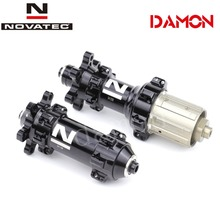 Novatec moyeux de frein à disque de vélo de route, D411SB D412SB 24H, à dégagement rapide ou axe transversal 12*100mm 12*142mm, avant et arrière