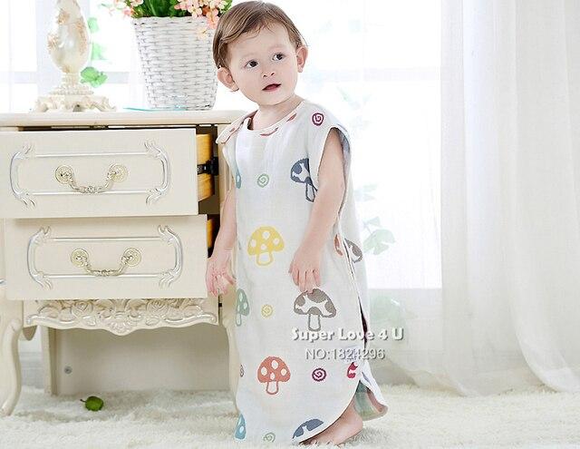 Children Bebes Baby Summer Mushroom Sleeping Bag Toddler Newborn Cotton Gigoteuse Couchage