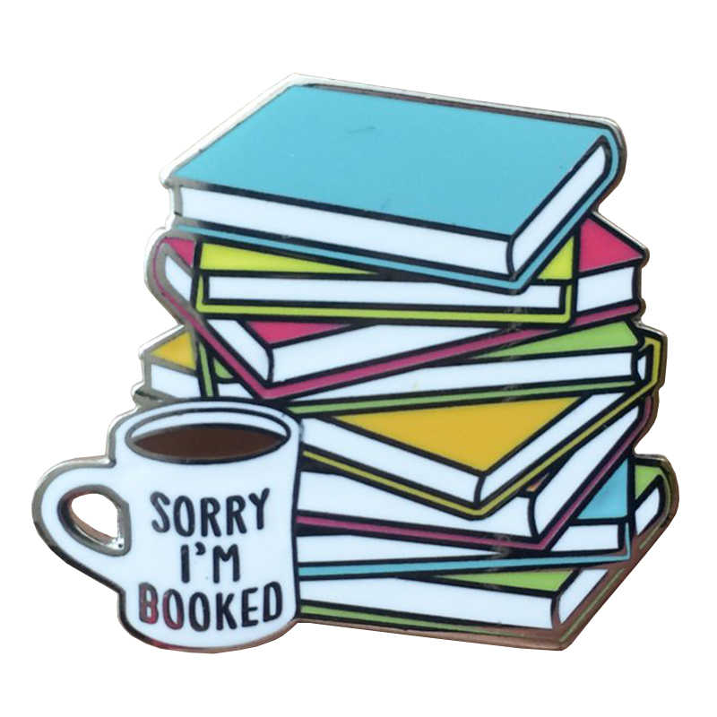 Book Lover Hard Enamel Pin