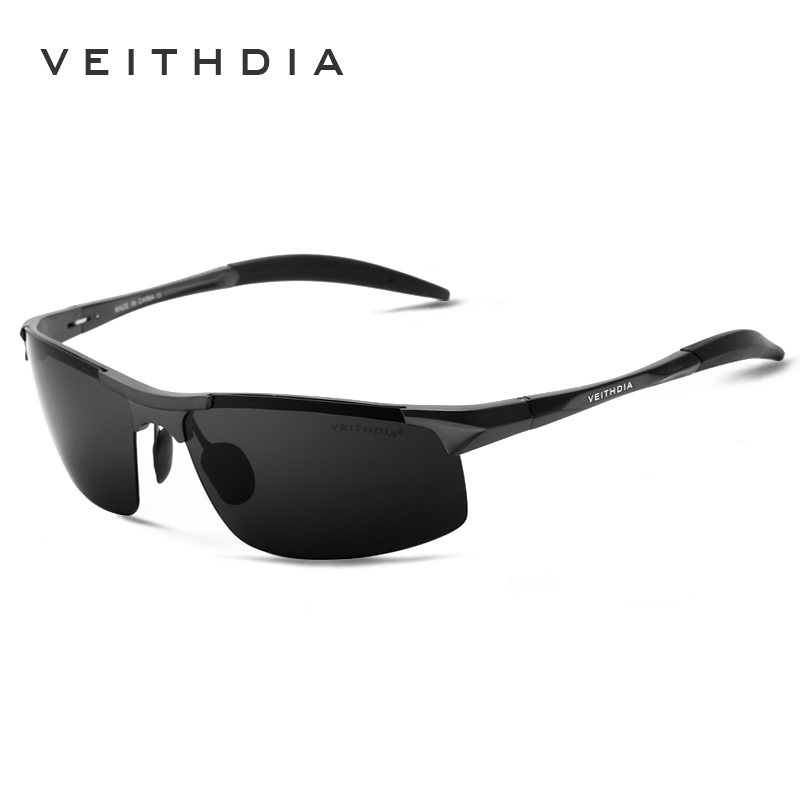 VEITHDIA Aluminum Rimless mens sunglasses brand designer Polarized Sun glasses Driving E ...