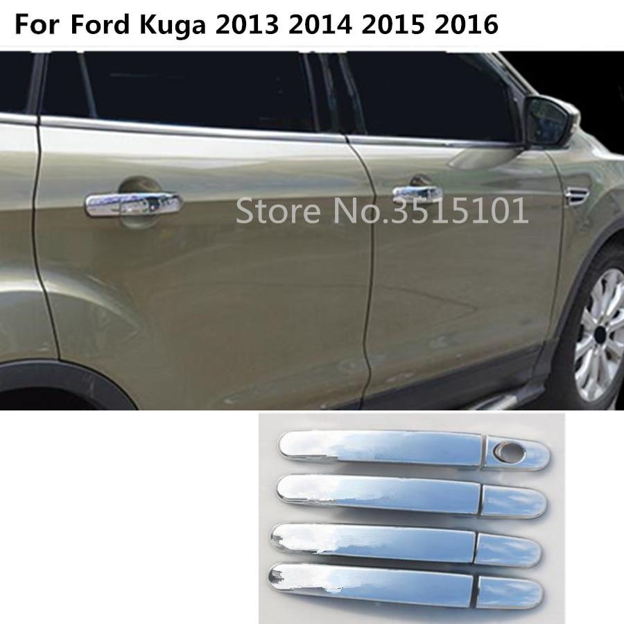 Auto Parts Chrome door handle Moulding cover trims For Subaru Outback 2015-2017