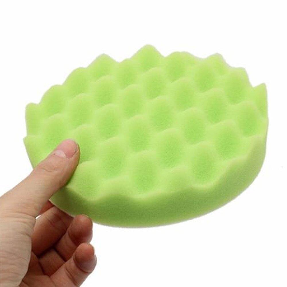 1 шт. Губка для полировки автомобиля губка для полировки Авто полирующая пена прочный набор колес портативный 6 дюймов - Цвет: green