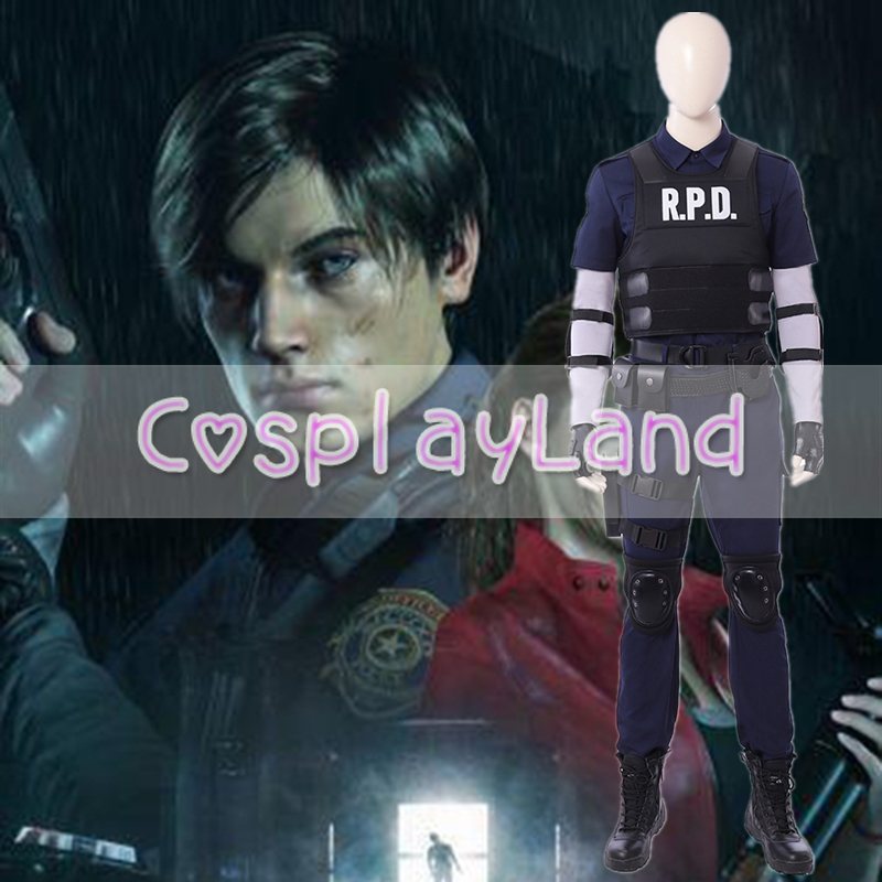 New Arrival Game Resident Evil 2 Cosplay Costume Leon Cosplay