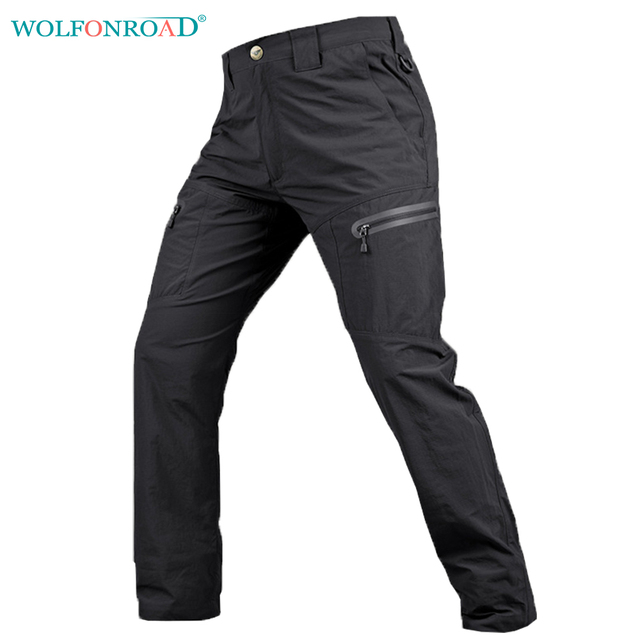 683e971c30d WOLFONROAD Summer Men Quick Dry Pants Military Tactical Pants Hiking  Camping Trousers Breathable Thin Men Hunting Pants L-PLY-12