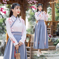 Hanfu Ancient Chinese Costume Long Sleeve Chinese Style Embroidery Tang Traditional Chinese Dance Costumes Hanfu Dress DN2108