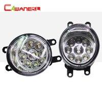 Cawanerl 2 Pieces Car LED Bulb Right Left Fog Light DRL Daytime Running Light DC 12V