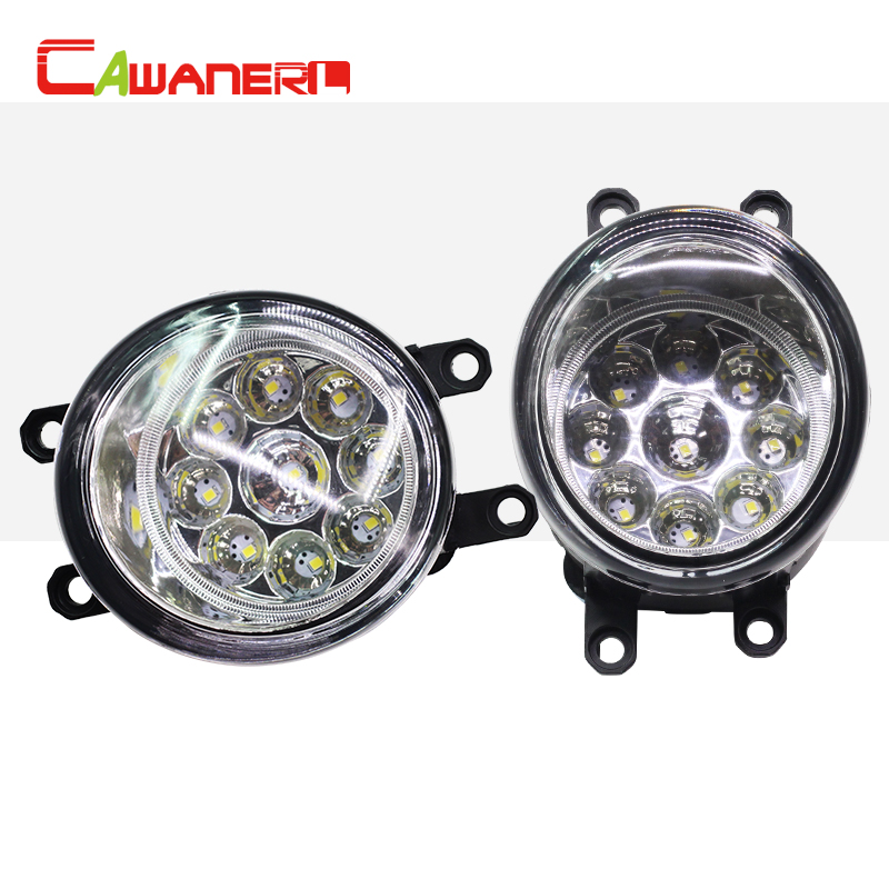 Cawanerl 2 Pieces Car LED Bulb Right + Left Fog Light DRL Daytime Running Light DC 12V For Scion XA 1.5L L4 2006 cawanerl for toyota highlander 2008 2012 car styling left right fog light led drl daytime running lamp white 12v 2 pieces