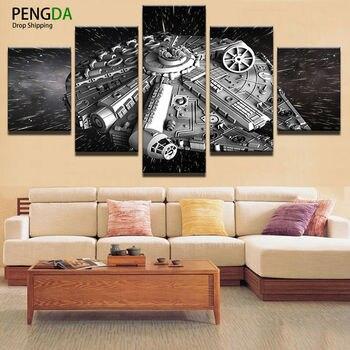 Oturma Odası Için Duvar Sanat Tuval Boyama Tarzı Duvar Resimleri 5