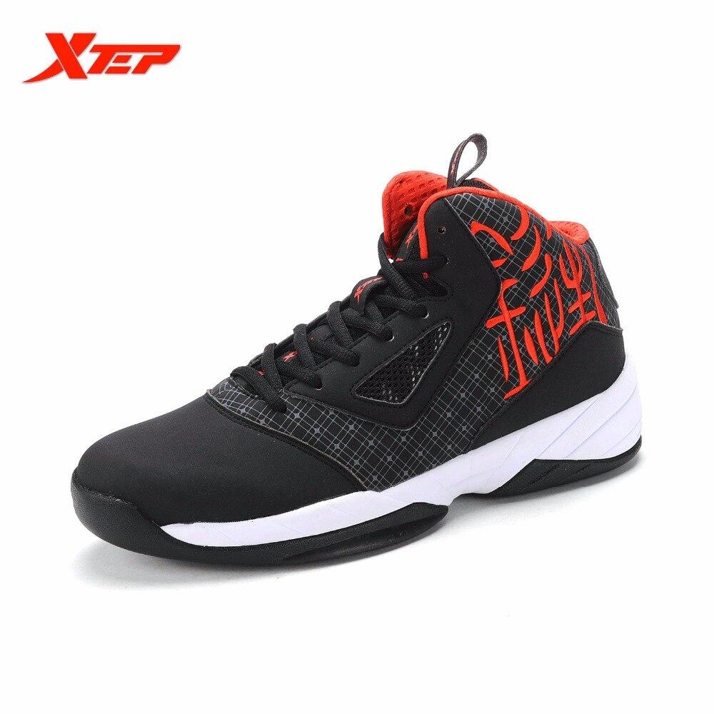 07b1d50e Xtep original Hombres Auténticos Zapatillas de baloncesto Botas deportes al  aire libre Zapatos pu gimnasio transpirable sneakers 985419129663