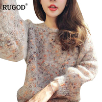 RUGOD Newest Female Dot Sweater Women Casual Knitted Pullover Women O Neck Long Sleeve Warm Winter Clothes manteau femme hiver