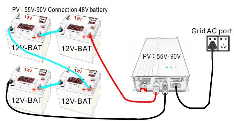 modo de energia ajustável da descarga da bateria 12v 24v 36v 48v