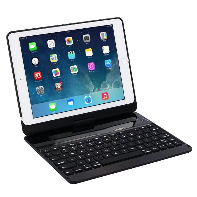For iPad 9.7 2017 Backlit Light Wireless Bluetooth Keyboard Case Cover For iPad Air 1 2 A1822 A1823 Case with Keyboard Cases