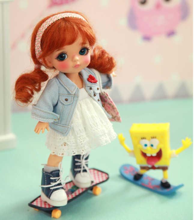Бесплатная доставка 1/8 BJD желто-ягодная кукла