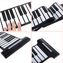 Flexible 88 Keys USB Flexible Roll up Roll-up Electronic Piano Keyboard Professional