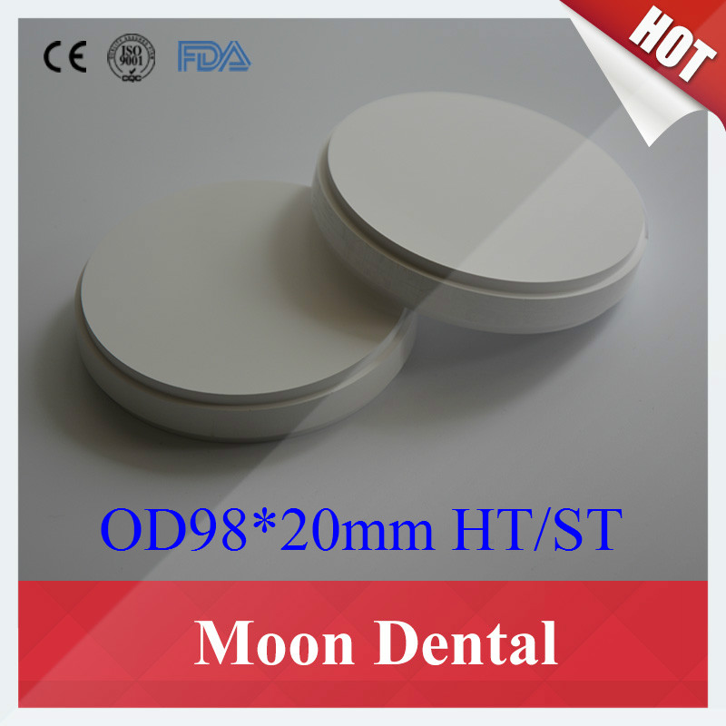 Sales 3 Pieces of HT ST OD98*20mm Wieland System CAD/CAM Dental Zirconia Ceramic Blocks for Making Crowns & Fixed Dentures 89 71 16mm 89 71 18mm dental zirconia blocks 5pcs cad cam amann girrbach system dental ceramic blocks making crowns