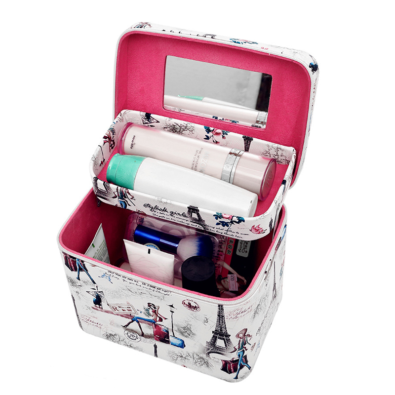 2018 New Vintage Characters Makeup Cases Travel Cosmetic Organizer Case Korean Beauty Cases Portable Cosmetics Pouch Bag 2017 new vintage characters makeup cases travel cosmetic organizer case korean beauty cases portable cosmetics pouch bag