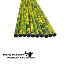 Free Shipping 20PCS SP340 Grass Color Camo Pure Carbon Arrow Shaft, DIY Hunting Arrow Shaft For Compound&Recurve&Tradtional Bow