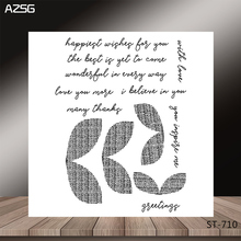 AZSG Line style leaves and bowknot Clear Stamps/Seal For DIY Scrapbooking/Card Making/Album Decorative Rubber Stamp Crafts