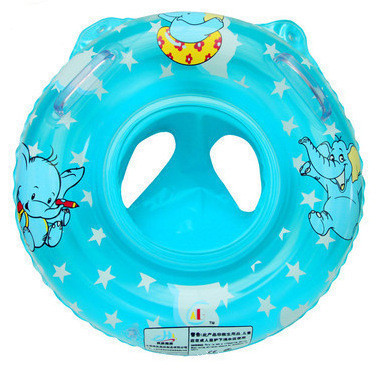 Inflatable Circle Swimming Ring/seat Handles Baby Toddler Safety Aid Float Pool Water