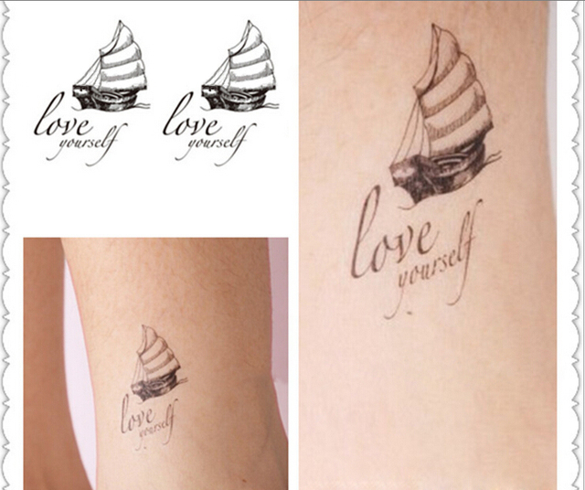 Preferenza Yeeech temporary tattoos sticker barca a vela stile harajuku per  YN72