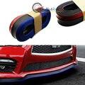 (1) Black w/ Blue PU Front Bumper Lip Splitter Chin Spoiler Body Kit Trim (8ft)