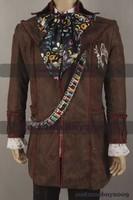 Alice in Wonderland Johnny Depp Mad Hatter Costume Set 6 pcs Plus Size Halloween Costume Cosplay