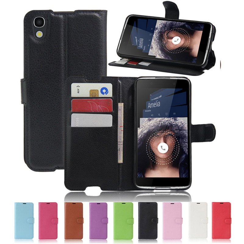 Wallet Cover For <font><b>Alcatel</b></font> <font><b>Idol</b></font> <font><b>4</b></font> <font><b>Case</b></font> <font><b>6055K</b></font> 6055B 6055Y <font><b>Flip</b></font> <font><b>Case</b></font> OT-<font><b>6055K</b></font> 6055H 6055P 6055I Leather Card Holder Phone Fundas image