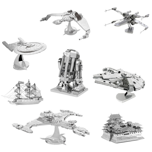 3D Jigsaw Puzzles for Kids Star Wars 3D Nano Metal DIY Scale Model Building Architecture Educational Toy For Toddlers AY679175