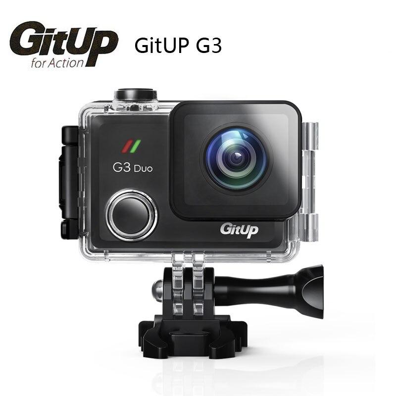 2018 Nova Gitup G3 Duo 2 K 12MP 2160 P Câmera de Ação Esporte 2.0 Tela de toque LCD GYRO 170 graus Opcional GPS Câmera Escravo