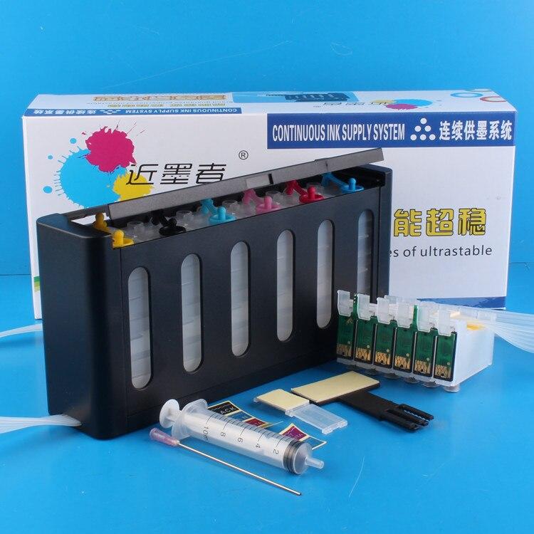 יוניברסל 6 ערכת מערכת אספקת דיו רציפה CISS צבע עם Accessaries מיכל דיו עבור EPSON 1400 1430 P50 791R מלא מדפסת