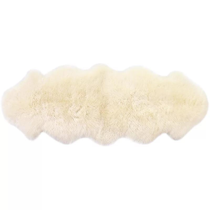 Origjinale e Shepëve Pelt të punuar me dorë bezhë të bardhë - Tekstil për shtëpi - Foto 6