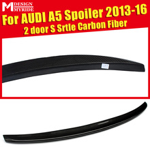 For Audi A5 A5Q High-quality Carbon Rear Spoiler Tail S-Style Coupe Fiber Trunk Wing 2-Door 13-16