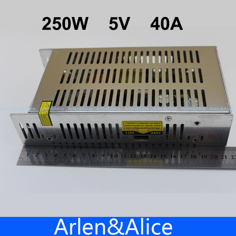 250W 5V 40A Single Output Switching power supply for LED Strip light AC to DC ac 85v 265v to 20 38v 600ma power supply driver adapter for led light lamp