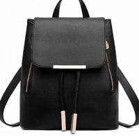 Backpack Female PU Leather Backpack Japanese Street Bag Women's School Bag