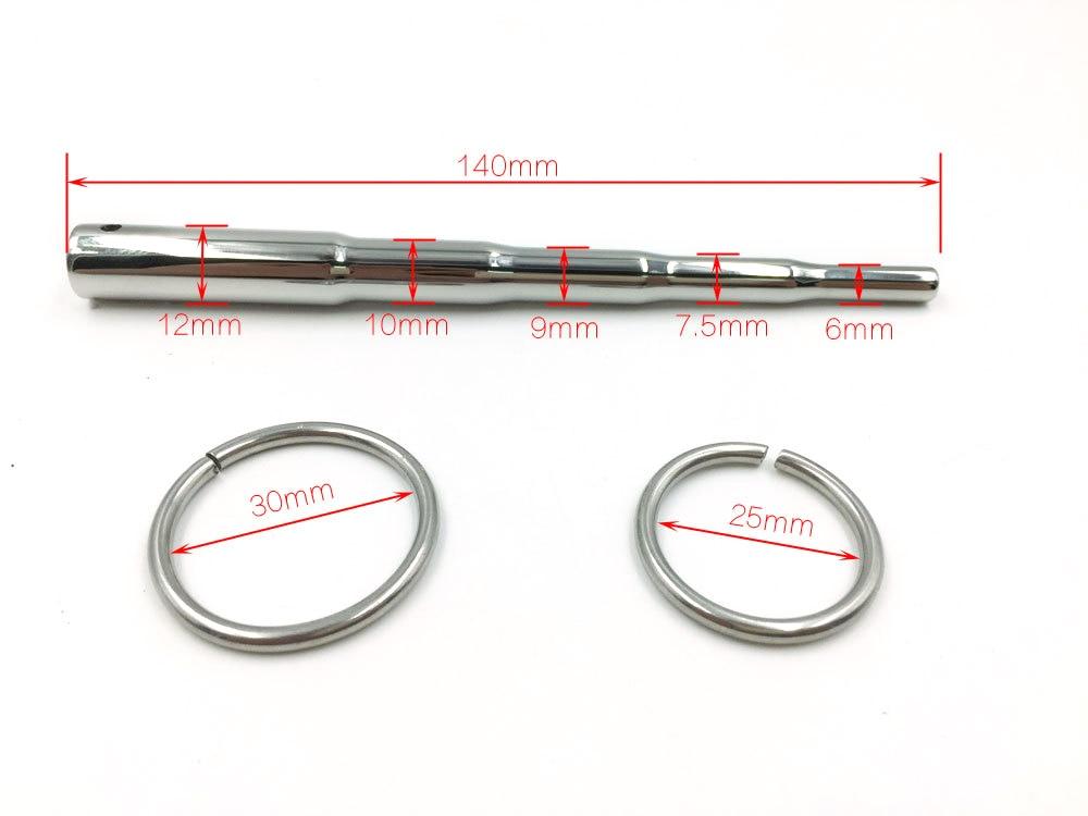 Adult Product Men Urethral Dilation Penis Plug Urethral Plug Sex Toys Stainless Steel Chastity Gadget Intubation Device