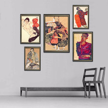 Egon Schiele Body Color Delineation Sketch Canvas Art Print Painting Poster, Wall Picture For Living Room, Home Decor цена