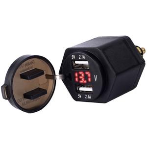 Image 3 - Nero Dual USB Caricatore Moto moto Caricabatteria Per BMW DIN Hella Moto Sigaretta Adattatore per Presa Accendisigari Con Ant polvere copertura