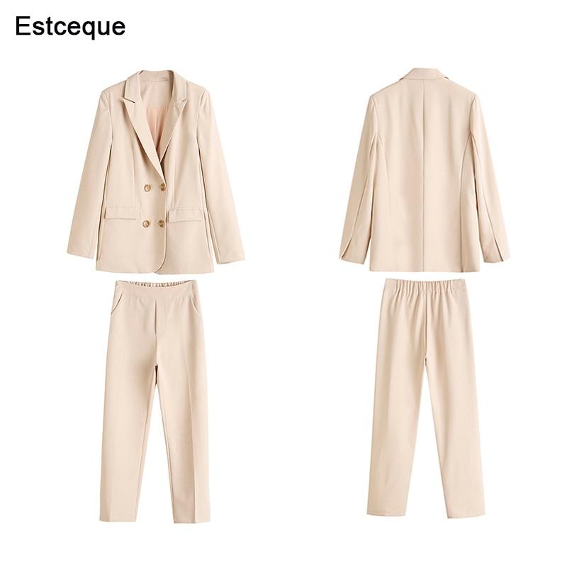 Dame Pantalon Feminino Ensemble Femmes 2 Bureau Les Travail Blazer Nouveau Costumes Veste Mode Pièces 2019 Pour À Vintage Et Costume La qgcwH5U