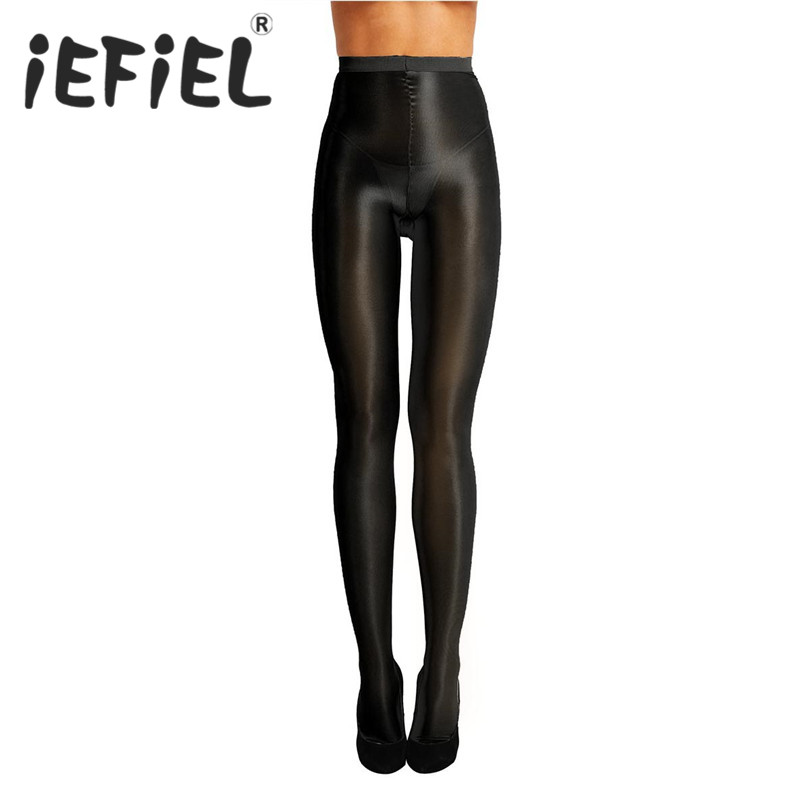 iEFiEL New Fashion Women Control Top Ultra Shimmery Stretch 70D Thickness Footed Silk High Waist Silk Under Pant