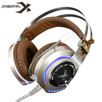 Gaming Headset Gamer Best Casque XIBERIA K2 Stereo Hifi Game Headphones With Microphone Mic Glowing LED