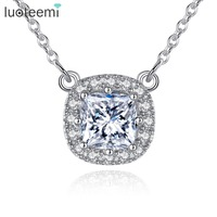 Teemi New Fashion Beautiful Elegant 925 Sterling Silver Cubic Zircoina Short Necklaces Pendant Women Jewelry Gifts