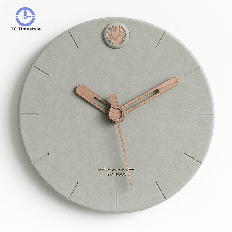 Nordic Clock Living Room Fashion Watches Modern Minimalist Creative Wall Clocks Bedroom Home Decor Mute Watch