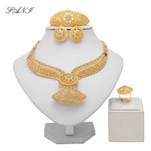 Fani Dubai Gold Color Jewelry Set Brand Nigerian Wedding woman accessories jewelry set Wholesale India Bridal jewelry set Gift(China)
